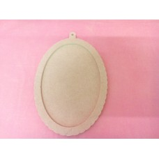 4mm MDF Oval Fancy Plaque 170mm